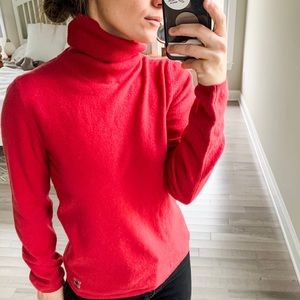 Burberry | Red Cashmere Turtleneck Sweater sz S